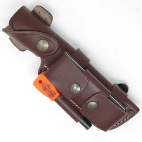 TBS Leather Multi Carry Knife Sheath with DC4 & Firessteel Attachment - Regular